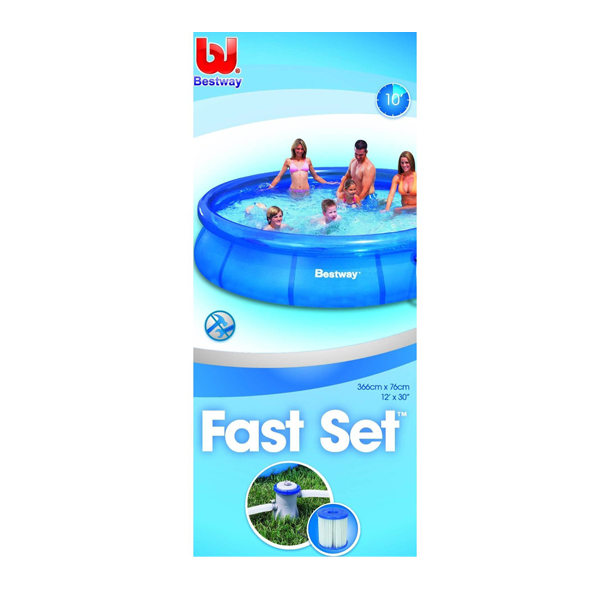 Bestway 12 foot clear fast set pool garden accessories for Fast set gartenpool