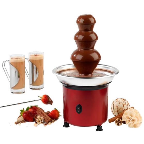 Giles & Posner Mini Red Chocolate Fountain