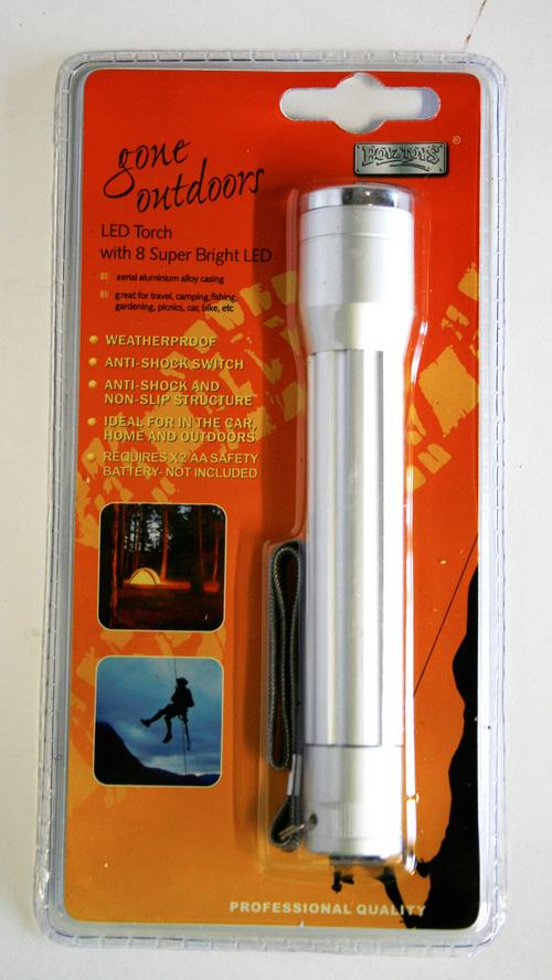Led Torch With 8 Super Bright Led Lights by Boys Toyz