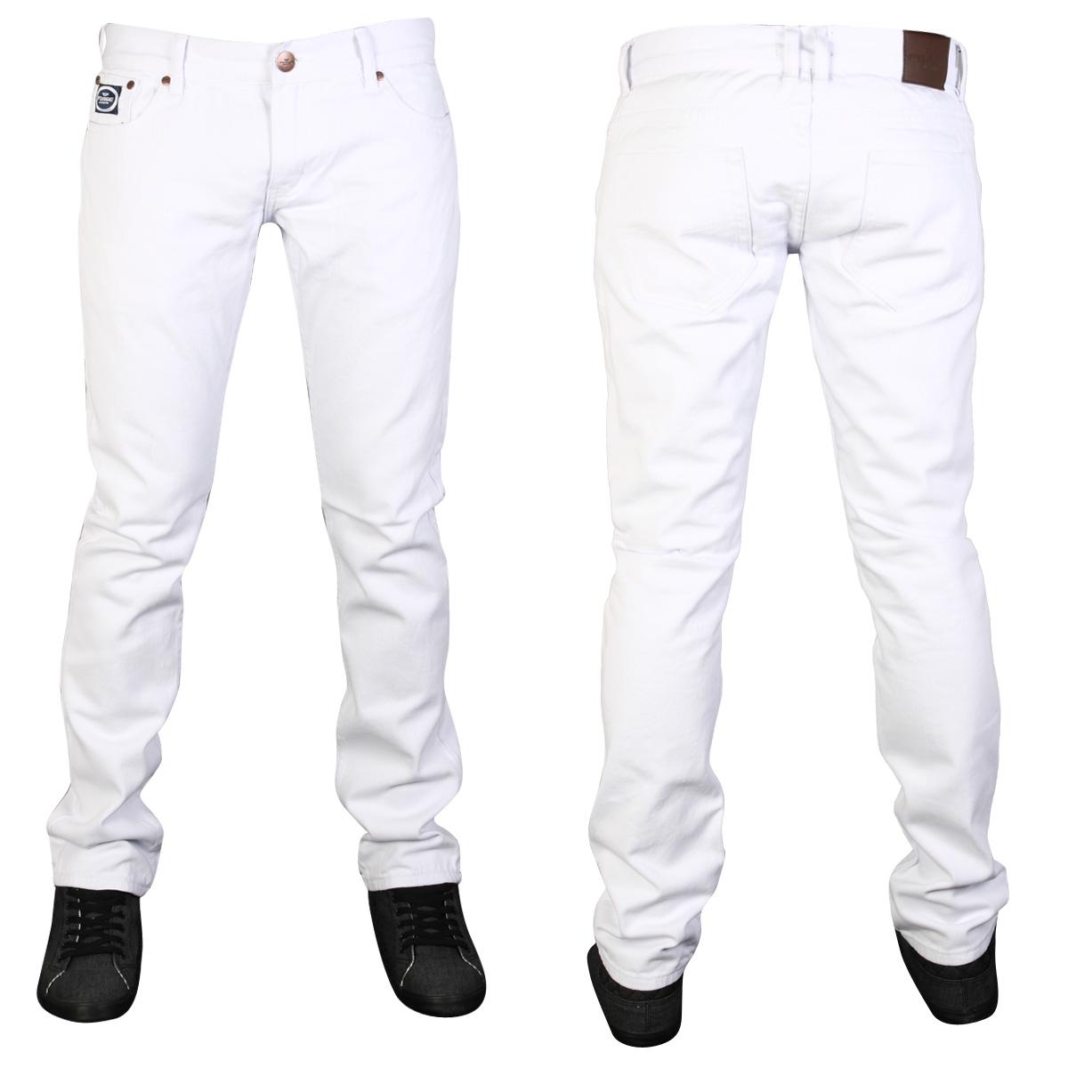 White Denim Jeans Mens - Jeans Am