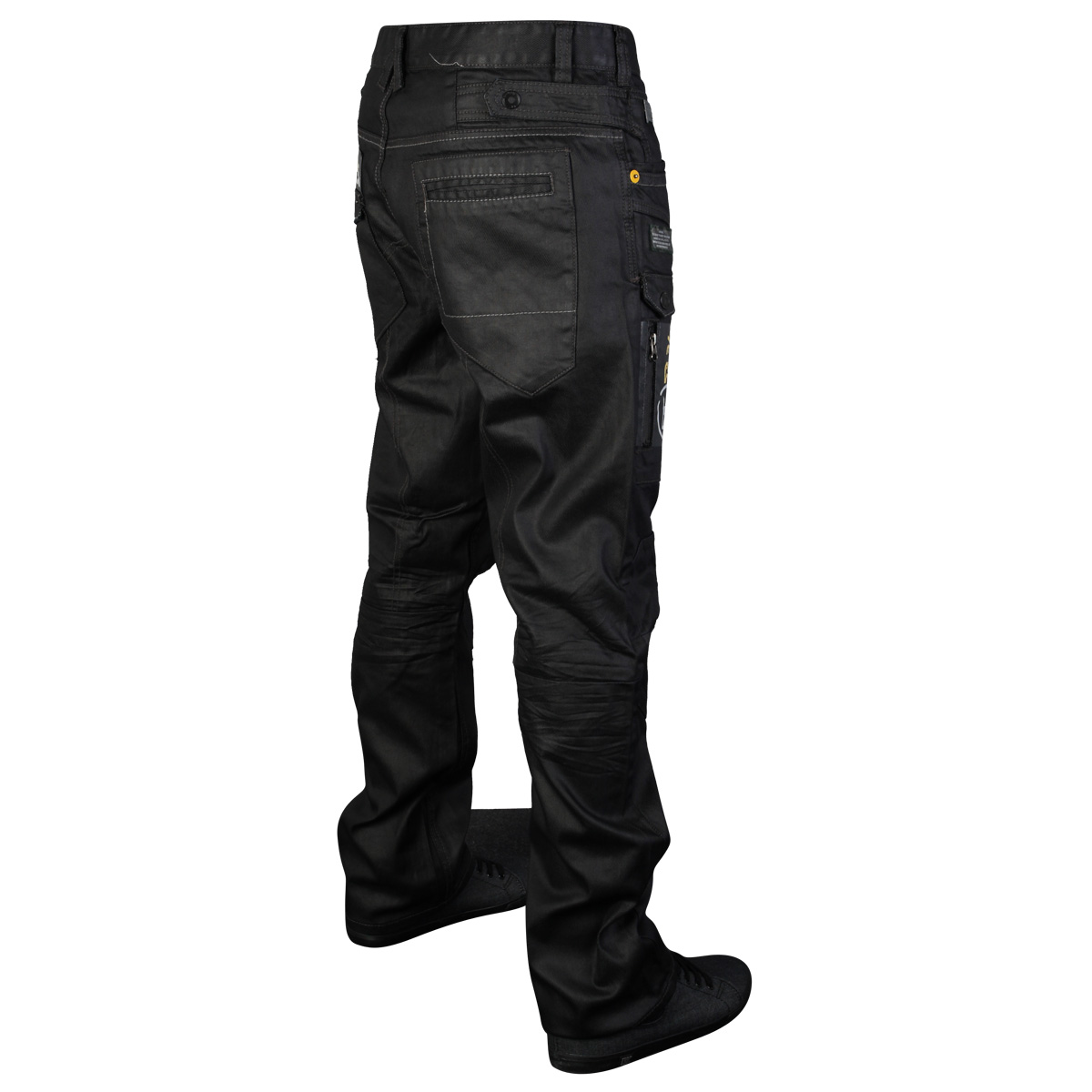 MENS BLACK RAWCRAFT MEDINO DESIGNER STRAIGHT FIT JEANS ALL WAIST AND LEG SIZES