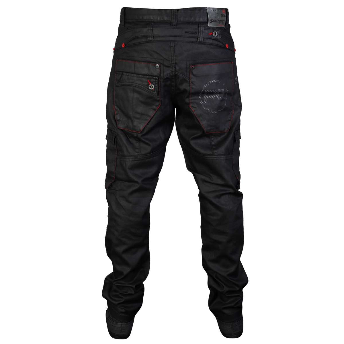MENS BLACK RAWCRAFT STRAIGHT FIT LETO DESIGNER DENIM JEANS ALL ...