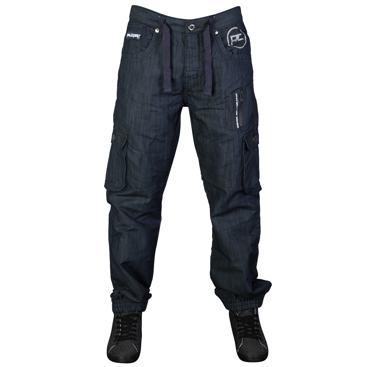 MENS BLUE DENIM RAWCRAFT CYCLOPES DESIGNER CUFFED FIT JEANS ALL WAIST & LEG SIZE