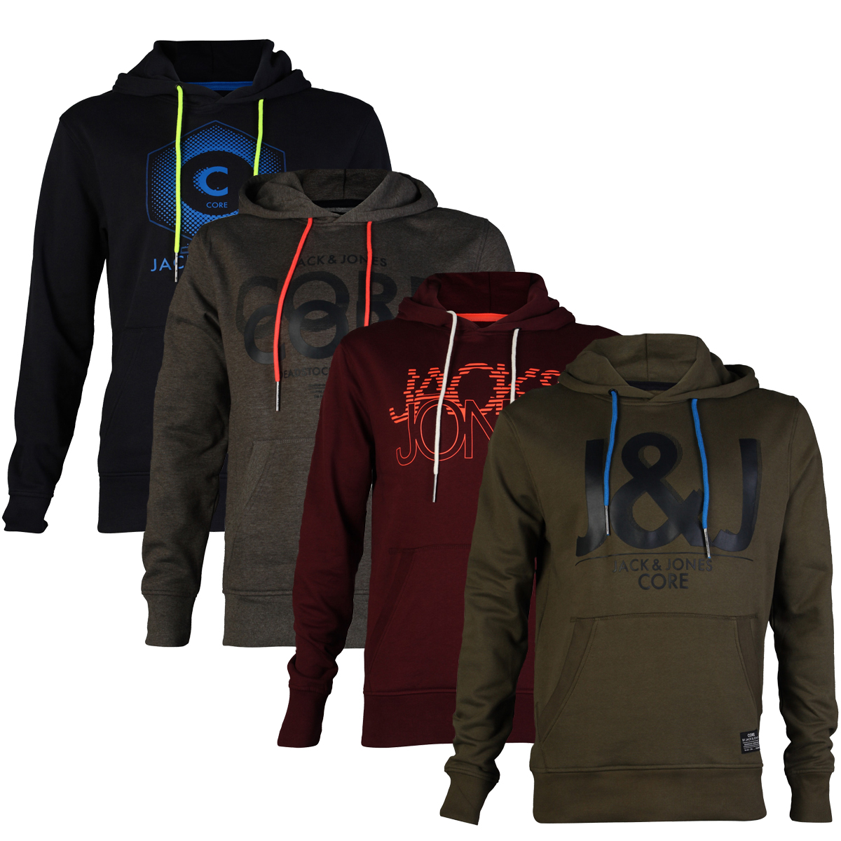 new mens jack jones elijah designer hooded sweatshirt. Black Bedroom Furniture Sets. Home Design Ideas