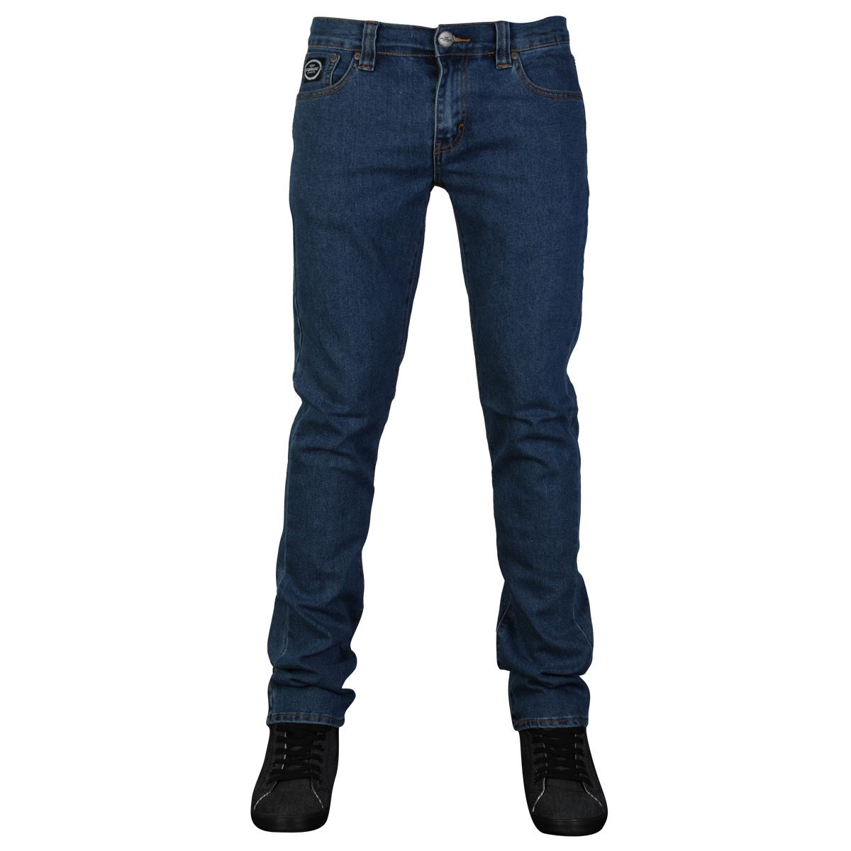 DD1-MENS-FORGE-BY-KAM-F103-SKINNY-FIT-STRETCH-DENIM-JEANS-ALL-WAIST-LEG-SIZES