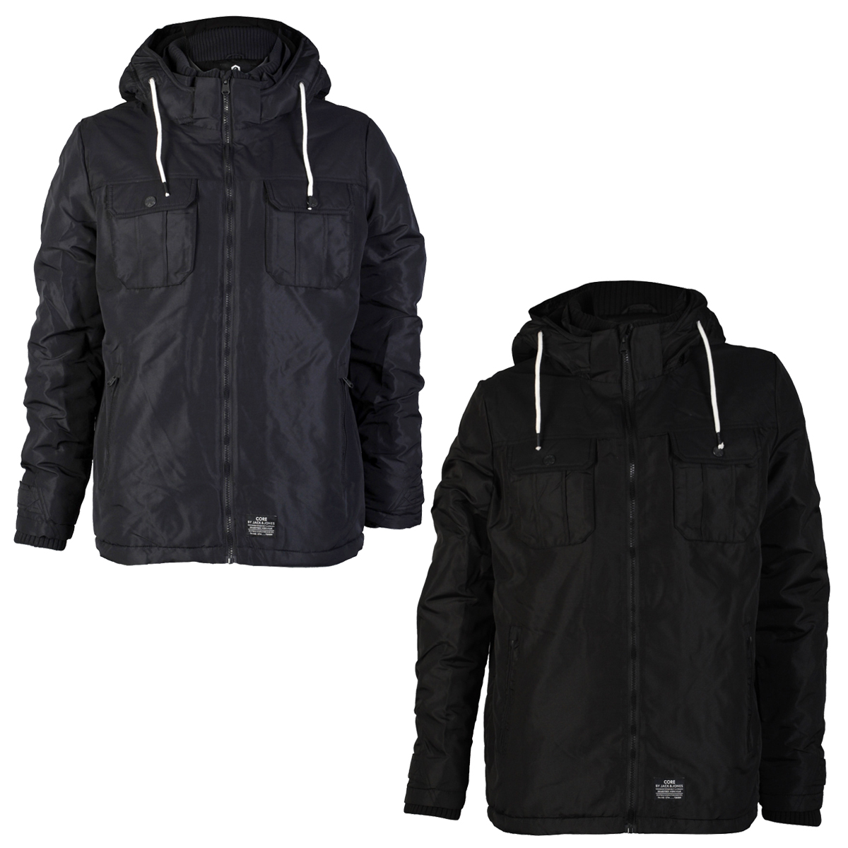 mens core jack amp jones grand designer waterproof winter jacket coat. Black Bedroom Furniture Sets. Home Design Ideas