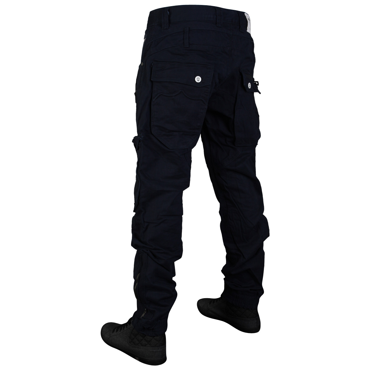 Mens Tapered Cuffed 883 Police Rohu Cargo Pants Trousers