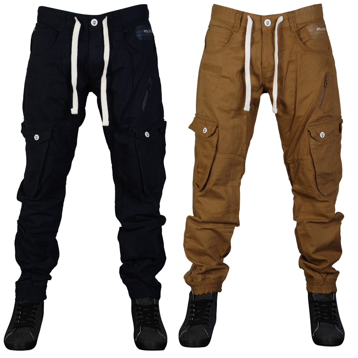 Black Cargo Work Pants For Men - White Pants 2016