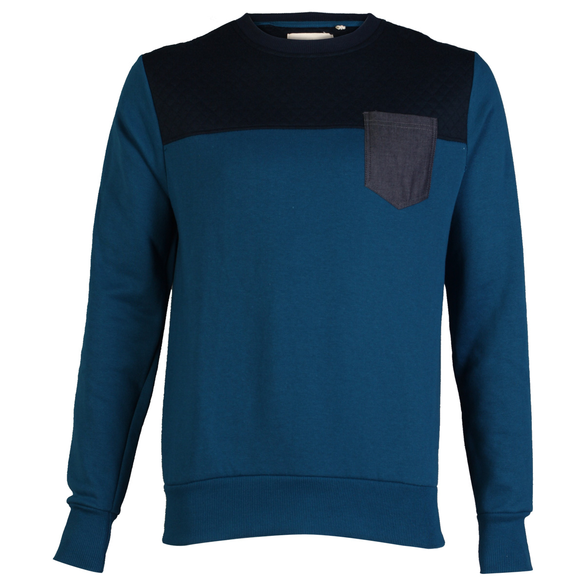 NEW-MENS-CONSPIRACY-C606712C-TEVIS-QUILTED-LONG-SLEEVE-JUMPER-SWEATER-SIZE-S-XL