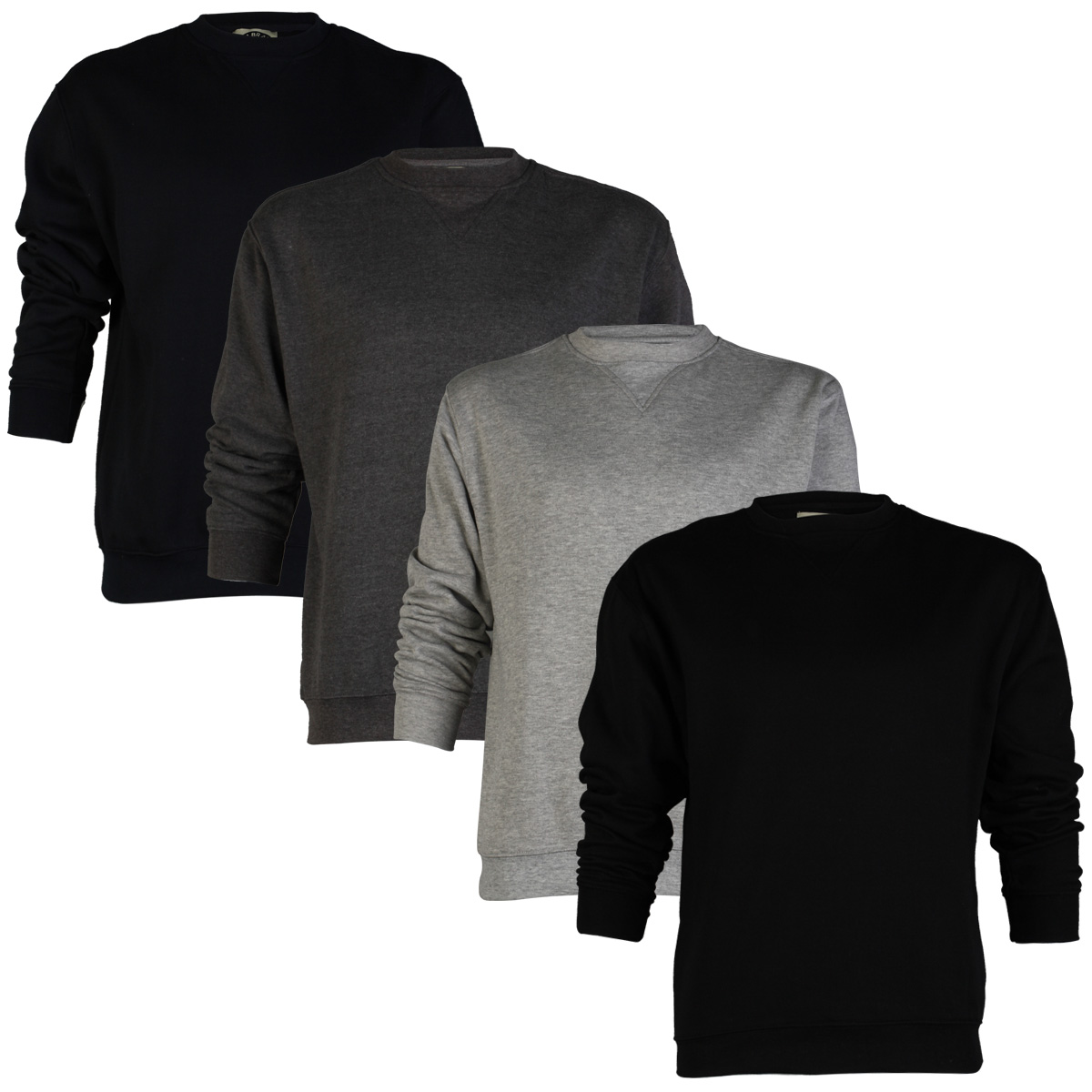 eb475a01d7 Image is loading MENS-KAM-JEANS-K502S-PLAIN-CREW-NECK-SWEATER-