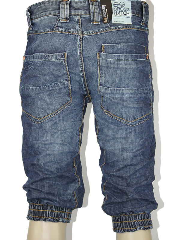 NEW-MENS-BLUE-CROSSHATCH-JEANS-DESIGNER-BRANDED-CUFFED-DENIM-SHORTS-ALL-SIZES-UK