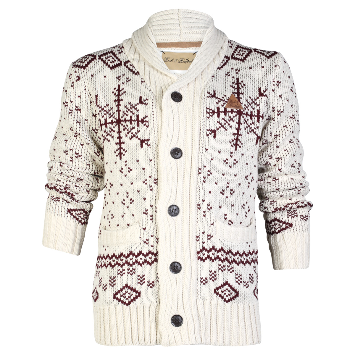 E19 ROCK & REVIVAL MENS CHUNKY KNITTED CARDIGAN WINTER LONG SLEEVE ...