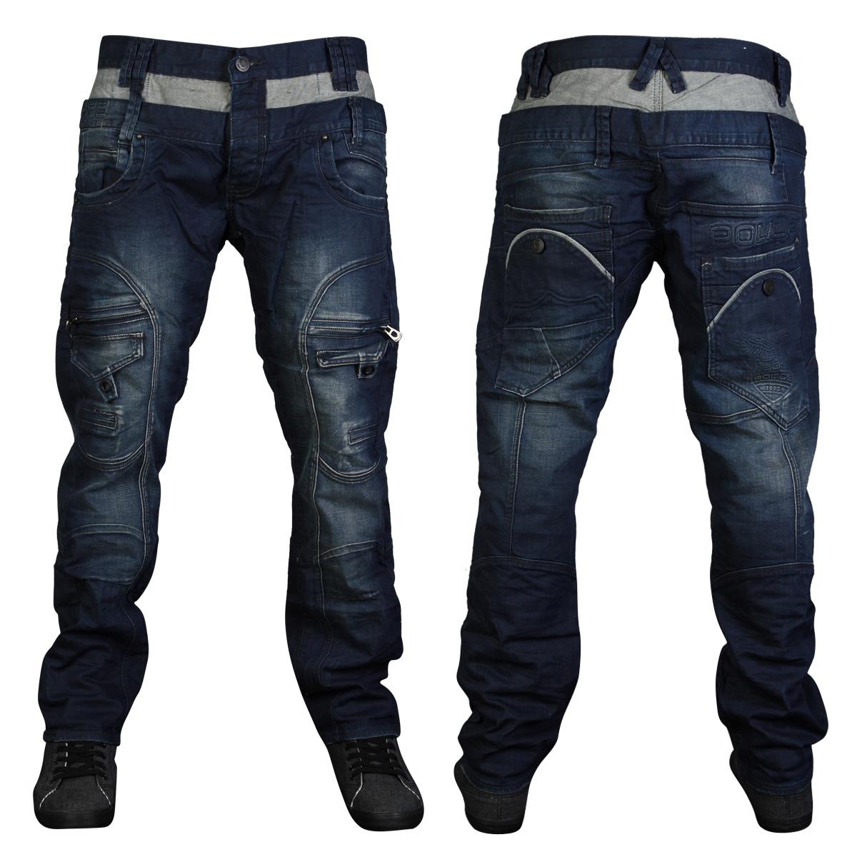 Dark Blue Mens Jeans