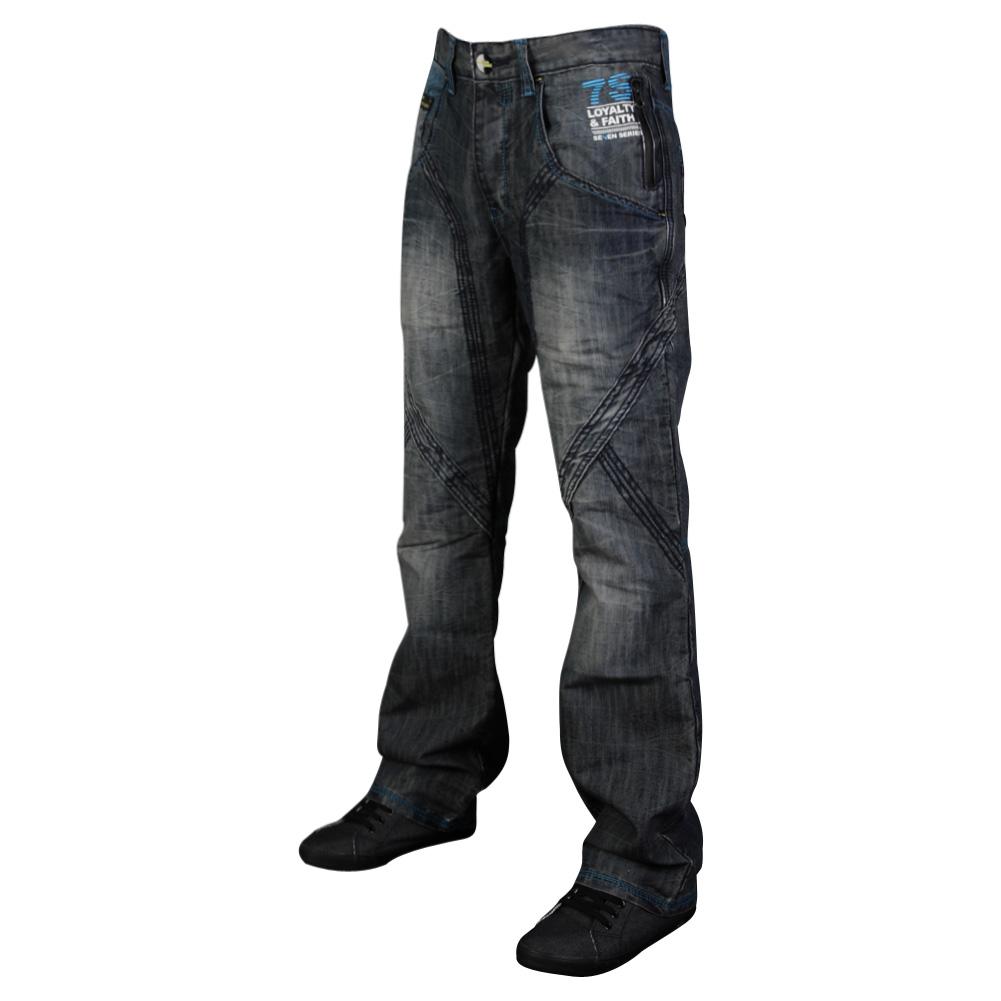 E21 DEAL MENS 7 SERIES BLUE WASH REGULAR FIT CARGO JEANS ALL WAIST & LEG SIZE