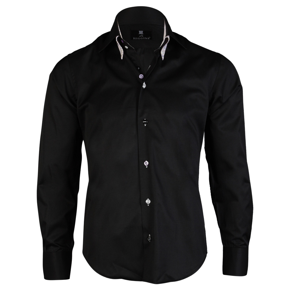 Mens Higgins Smart Formal Long Sleeve Collared Button Slim