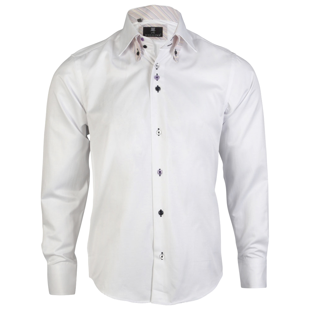 Mens Higgins Smart Formal Long Sleeve Collared Button Slim