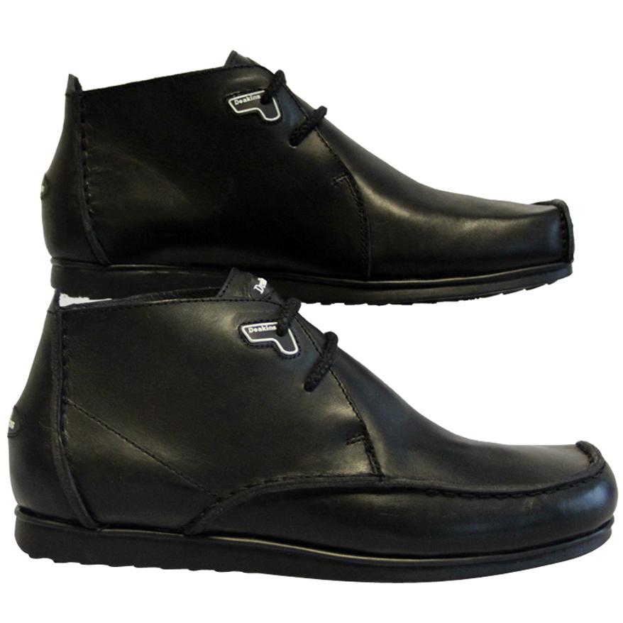mens black deakins reef 19 designer leather boots shoes