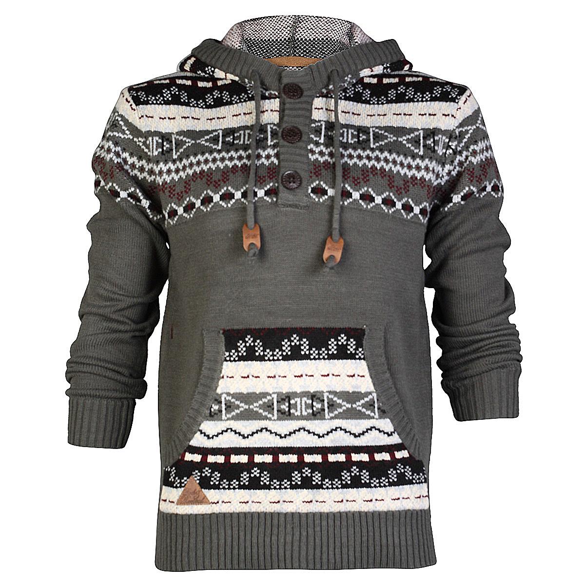 rock revival herren cardigan grob strick langarm winter pullover gr s xl ebay. Black Bedroom Furniture Sets. Home Design Ideas