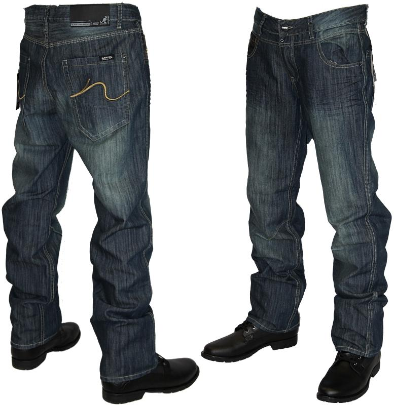 CLEARANCE E1 MENS BLUE KANGOL CARTER DESIGNER DENIM JEANS ALL ...