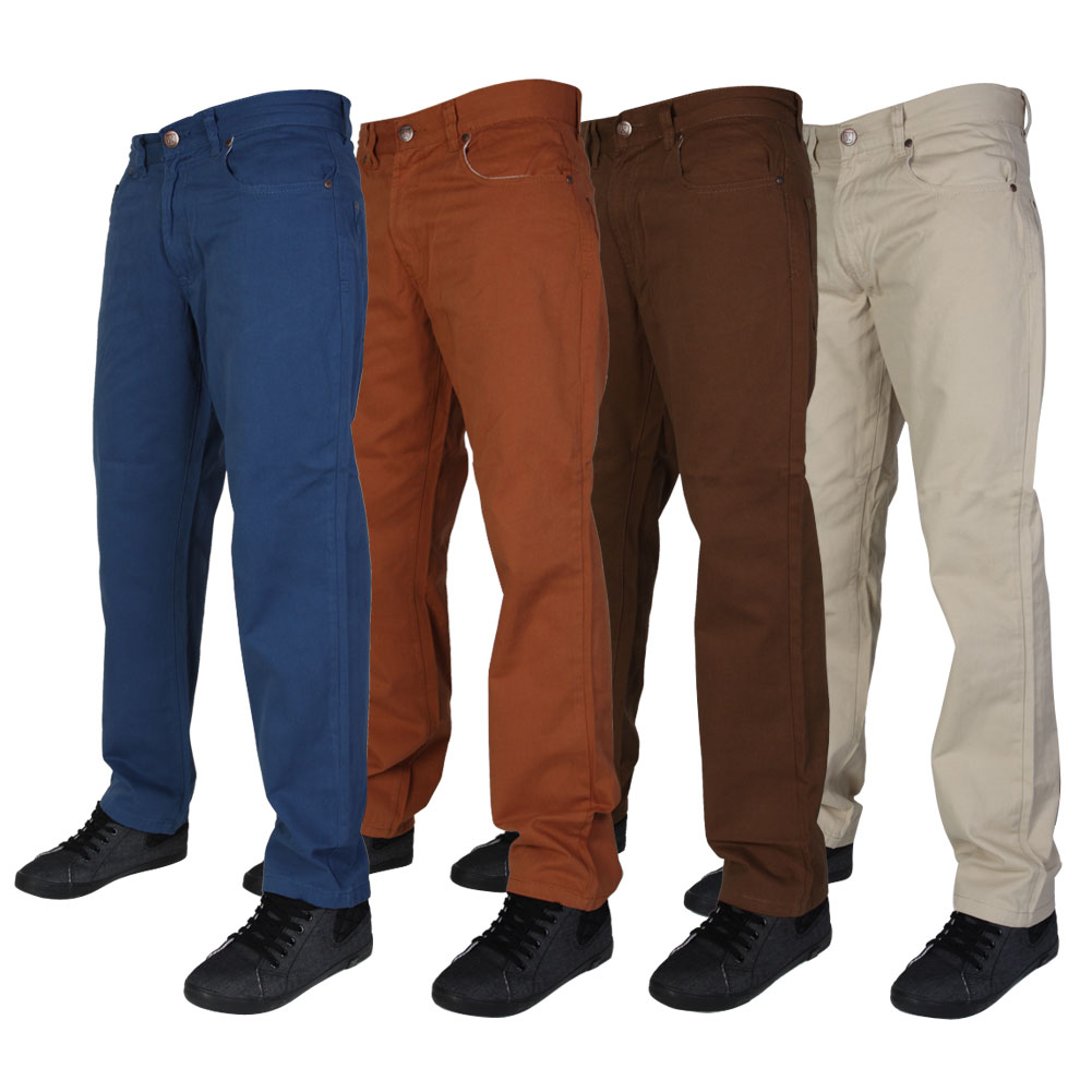 NEW MENS KAM JEANS K254 REGULAR FIT CASUAL CHINOS PANTS ALL WAIST AND LEG SIZES