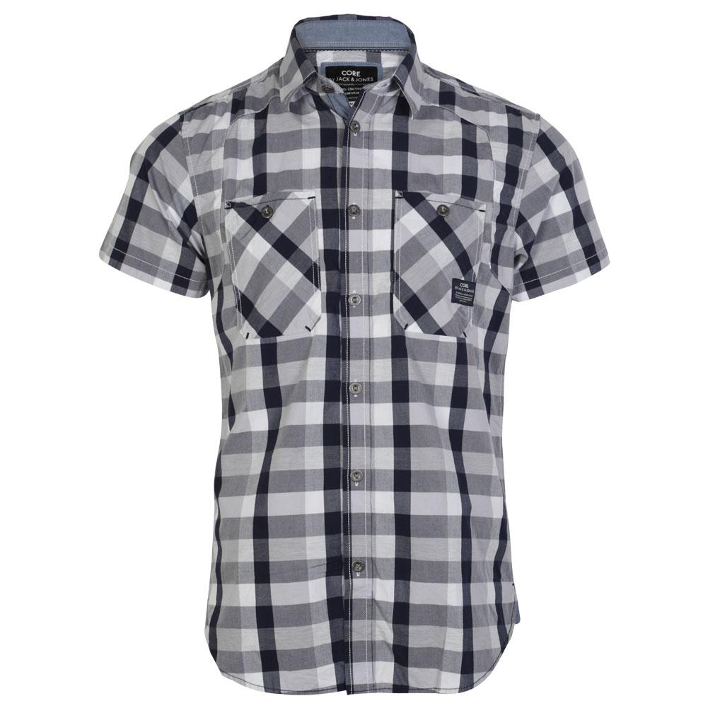 Mens jack jones tock button up top short sleeve collared for Best short sleeve shirts