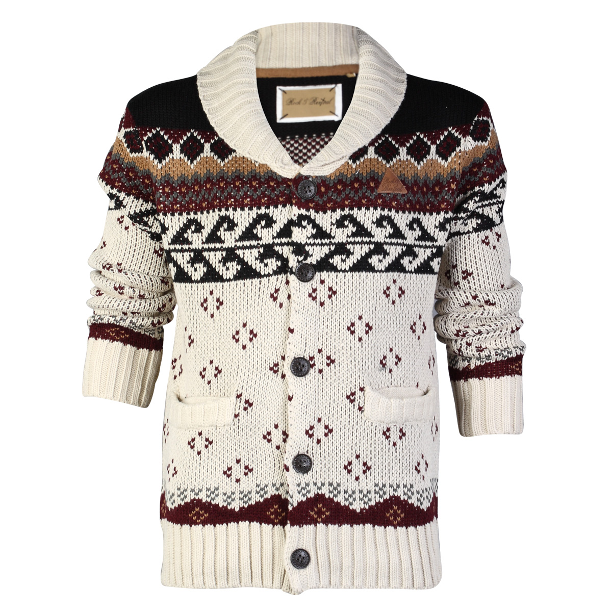 BB MENS ROCK & REVIVAL CHUNKY KNITTED CARDIGAN WINTER LONG SLEEVE ...