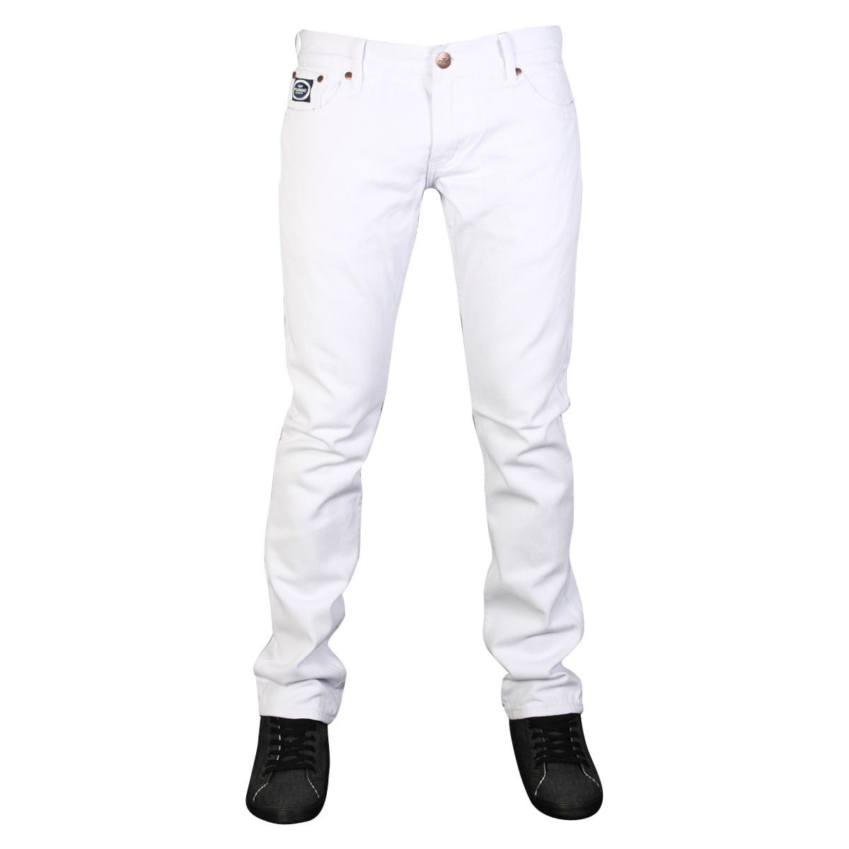 CLEARANCE MENS WHITE FORGE BY KAM F102 DESIGNER SKINNY FIT DENIM ...