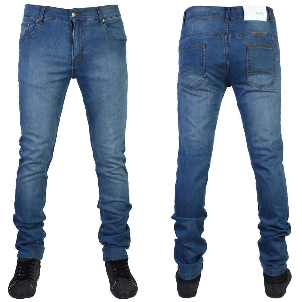 Watch video · Their Stretch Series Slim Fit Jeans hit the mark, offering a really nice looking pair of denim at a stock-'em-up price point. This pair offers two appealing features: a mid rise and a straight leg. Many men find a mid rise to be the most comfortable and the straighter leg keeps these versatile when it comes to footwear too.