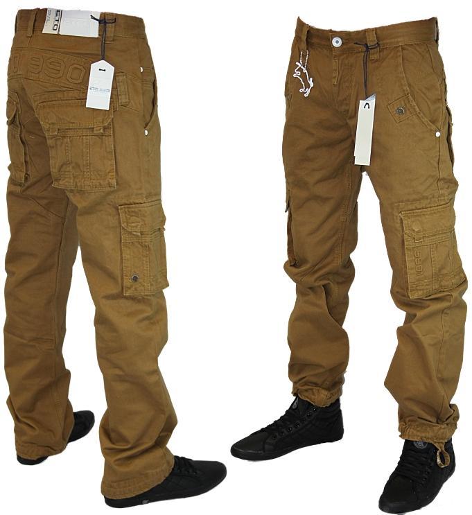 herren braune eto designer jeans em224 gerades bein cargo. Black Bedroom Furniture Sets. Home Design Ideas