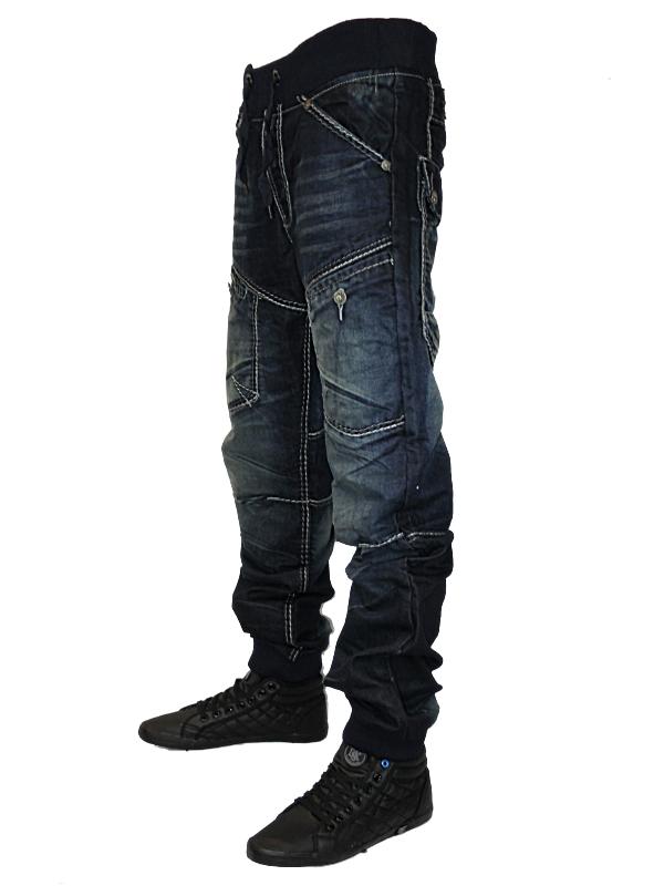 herren blaue kosmo lupo jeans km502 designer taillierte. Black Bedroom Furniture Sets. Home Design Ideas