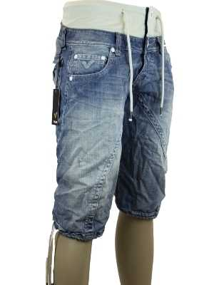NEW-MENS-BLUE-VOI-JEANS-HAWK-DESIGNER-BRANDED-TAPERED-FIT-DENIM-SHORTS-ALL-SIZES