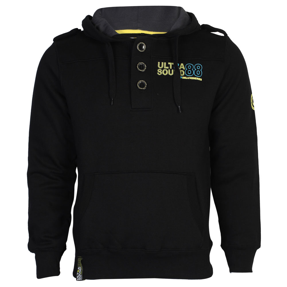 Mens button up hoodie