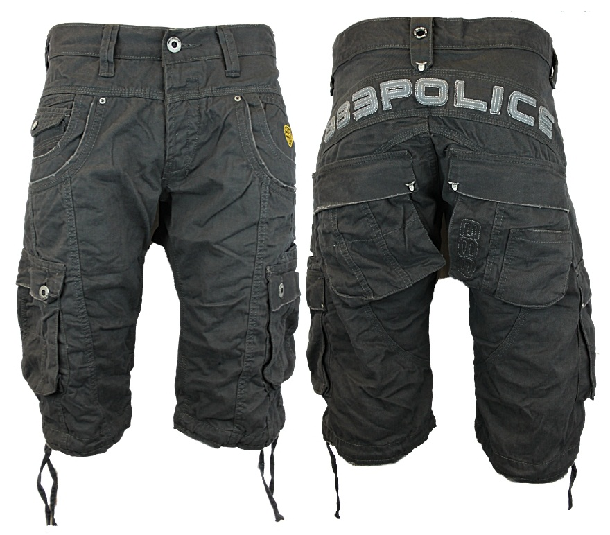 062010ff3b NEW MENS POLICE JEANS 883 SEATTLE DESIGNER LOOSE FIT CARGO SHORTS ...