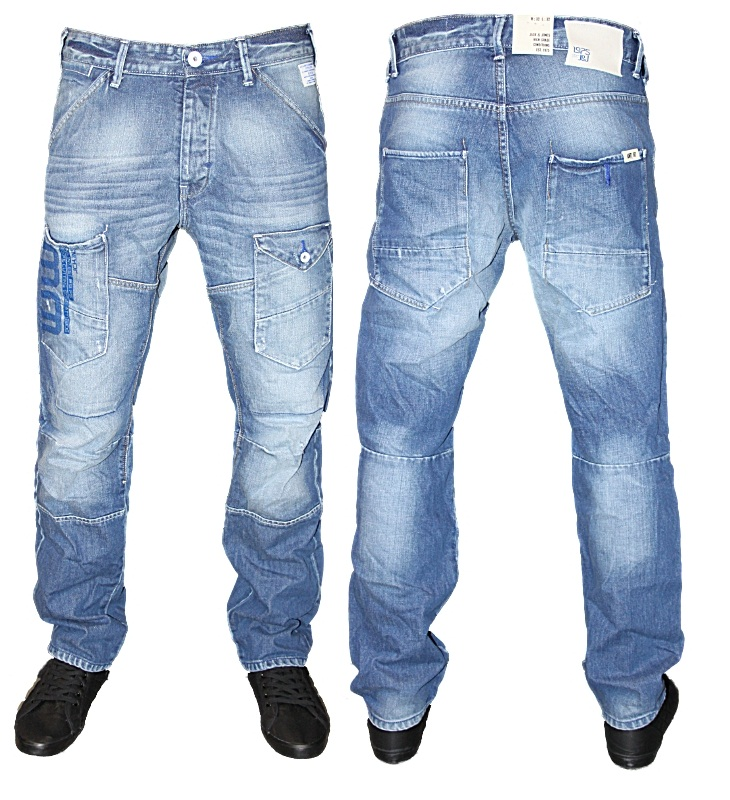 NEW MENS BLUE JACK JONES STAN MAJOR DESIGNER TAPERED FIT DENIM ...