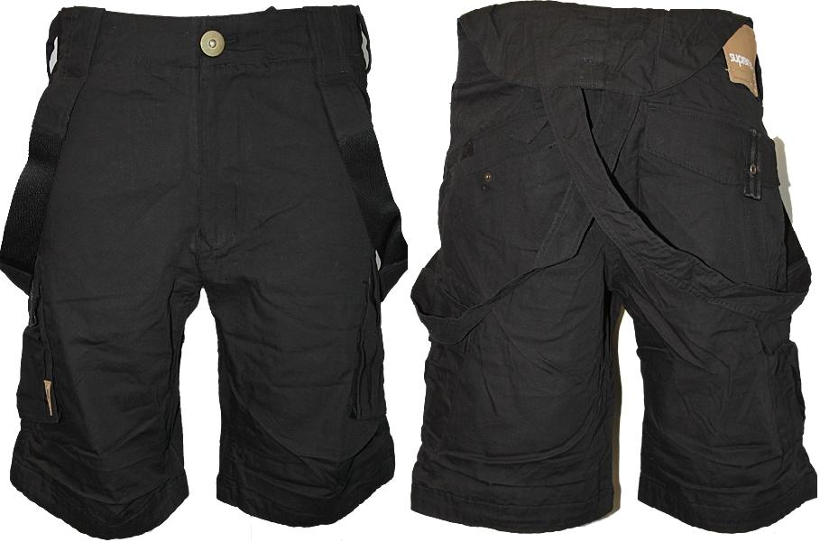 NEW-MENS-BLACK-SUPREMEBEING-JEANS-DESIGNER-LOOSE-FIT-CARGO-SHORTS-ALL-SIZES-UK