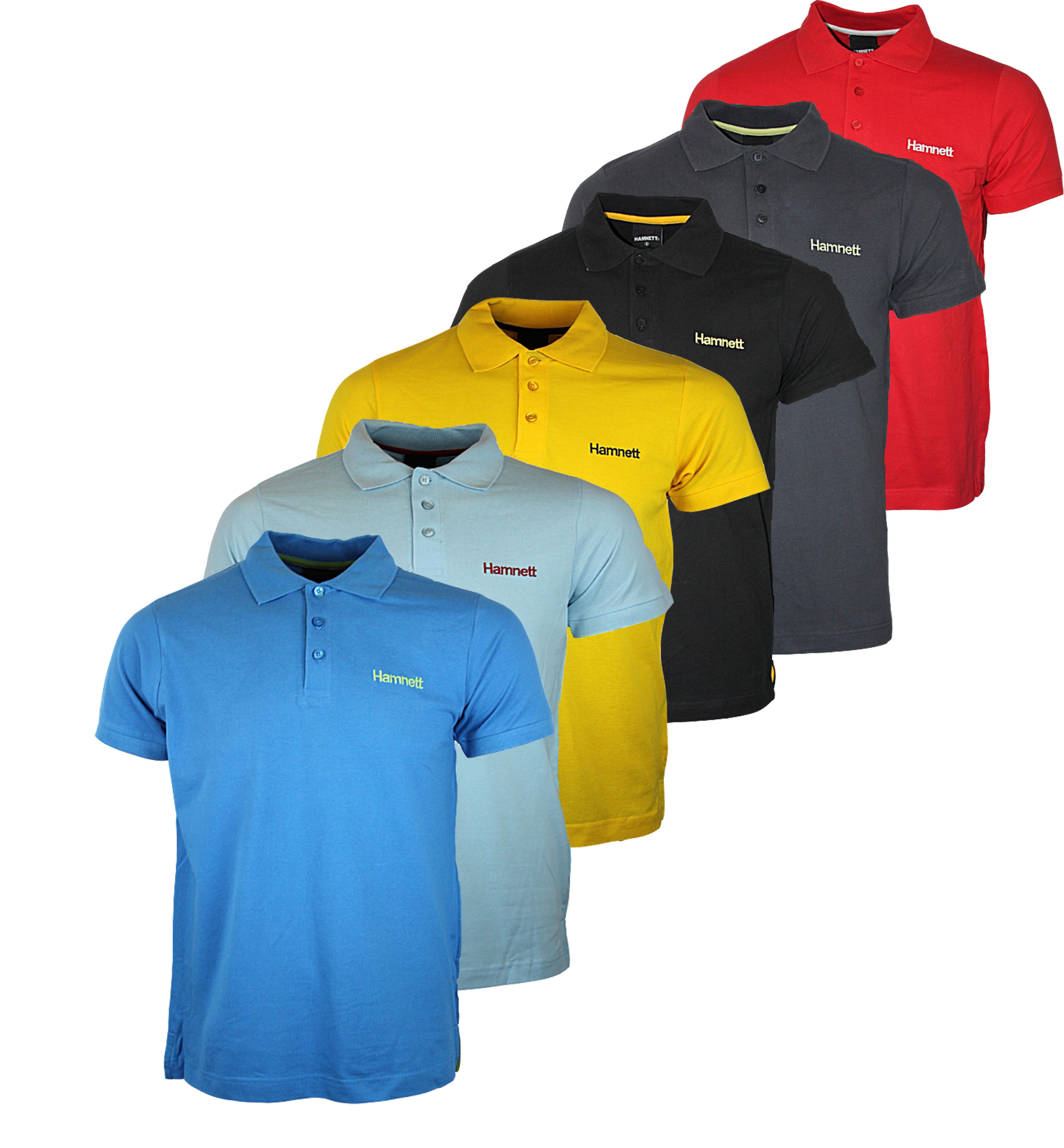 Design t shirt uk - New Mens Hamnett Gold H707627th Designer Polo Neck T Shirt Top Sizes S Xxl