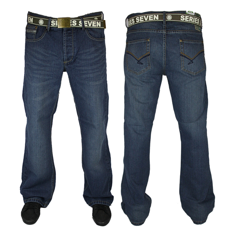 NEW MENS LOYALTY & FAITH L603549A DESIGNER BOOT CUT JEANS ALL WAIST AND LEG SIZE