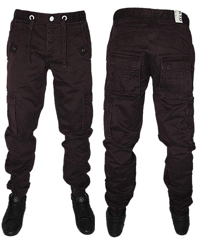 pantalon homme eto em2244 coupe carotte revers fuseau jean chino combat ebay. Black Bedroom Furniture Sets. Home Design Ideas