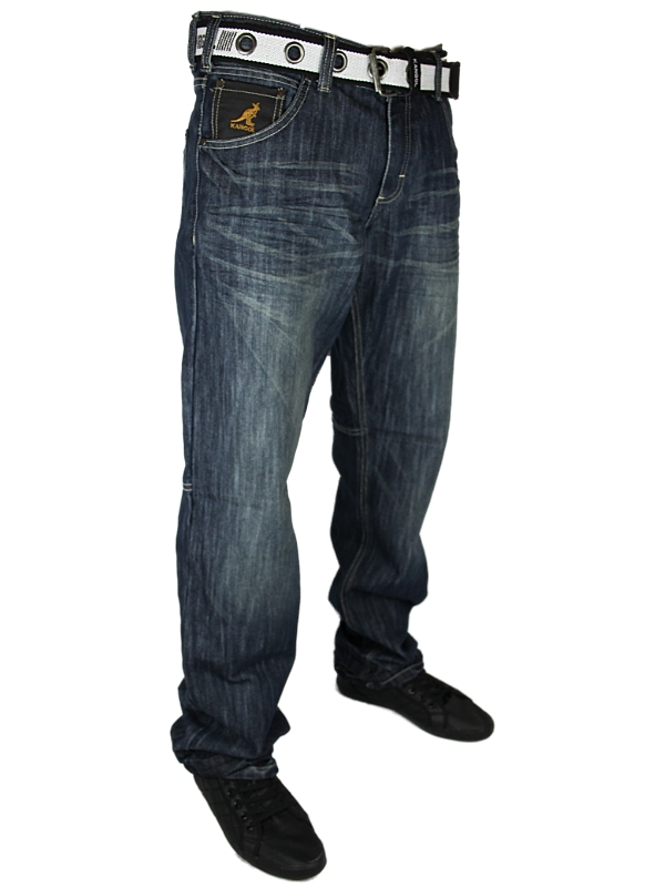 E14-MENS-STONEWASH-KANGOL-532VB-TAPERED-FIT-DENIM-JEANS-ALL-WAIST-AND-LEG-SIZES