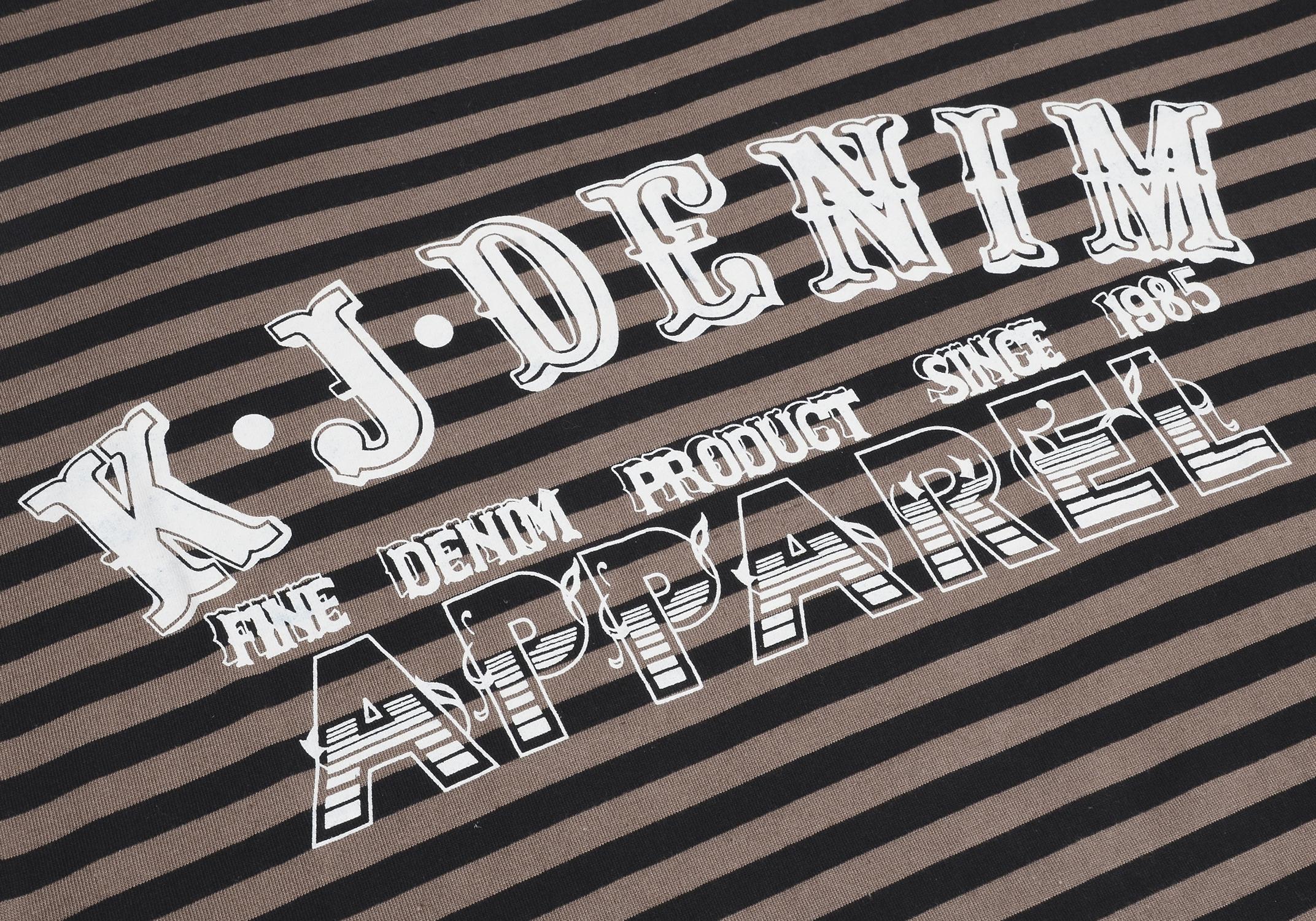 kam jeans kbs583 designer t shirt herren gestreift. Black Bedroom Furniture Sets. Home Design Ideas