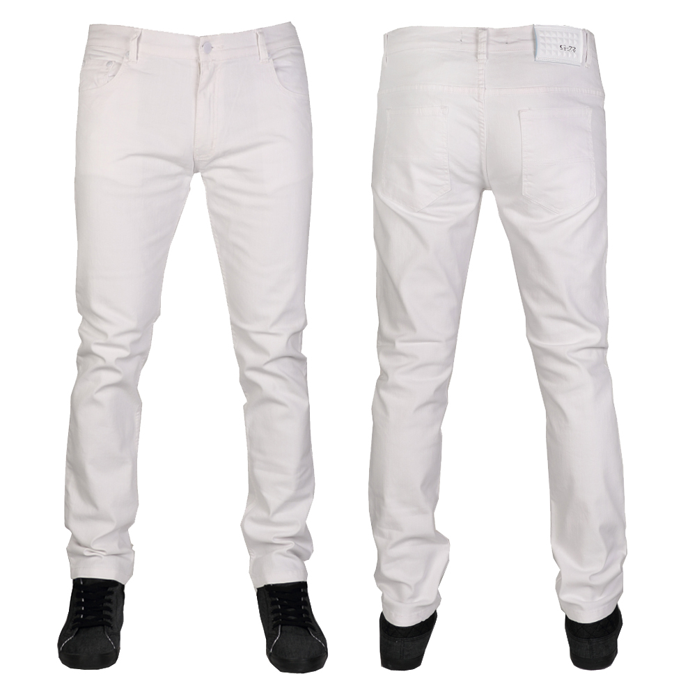 White Stretchy Jeans - Jeans Am