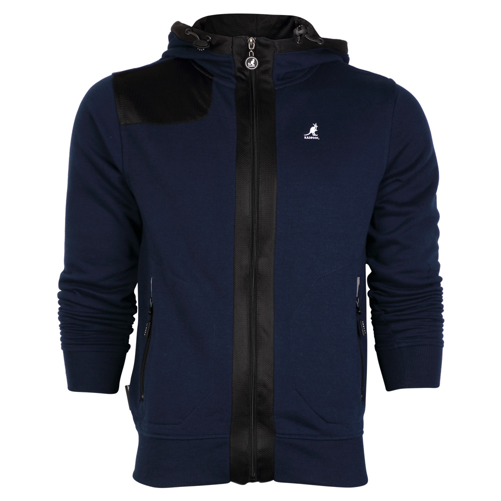 NEW MENS HOODIES KANGOL 606411 DESIGNER ZIP UP HOODED JUMPER ...