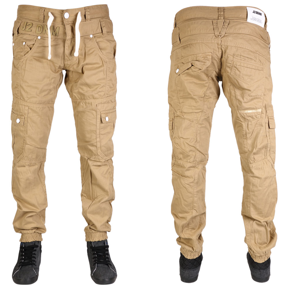 MENS JEANS J2 DENIM BUTTON FLY BRANDED CASUAL CARGO CHINOS ALL ...