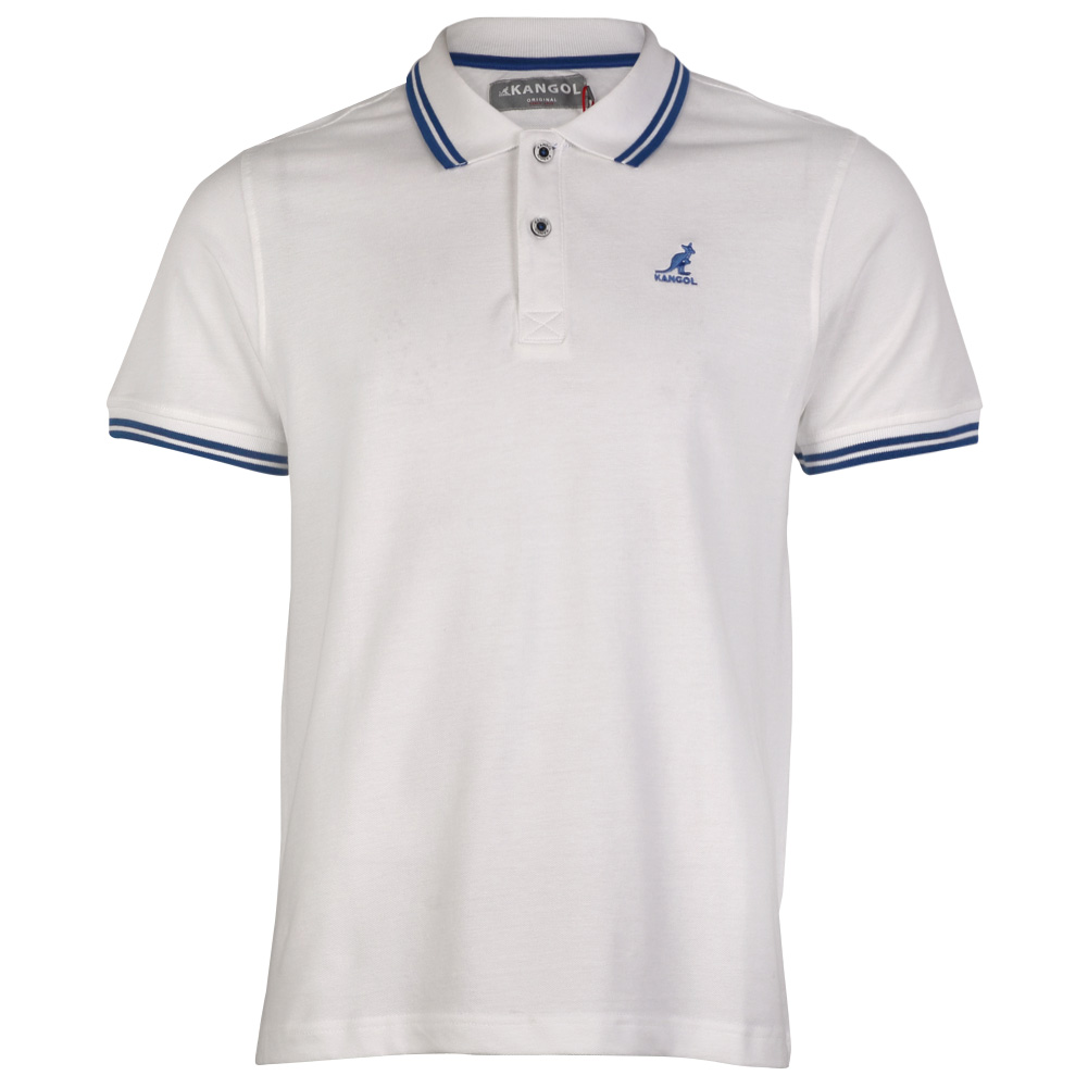 New mens kangol joshua polo button up collar short sleeved for Polo shirts without buttons