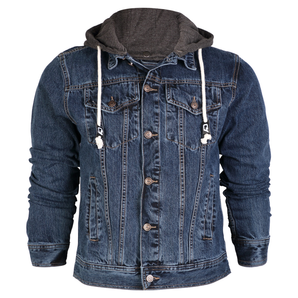Images of Denim Hooded Jacket Men S - Reikian