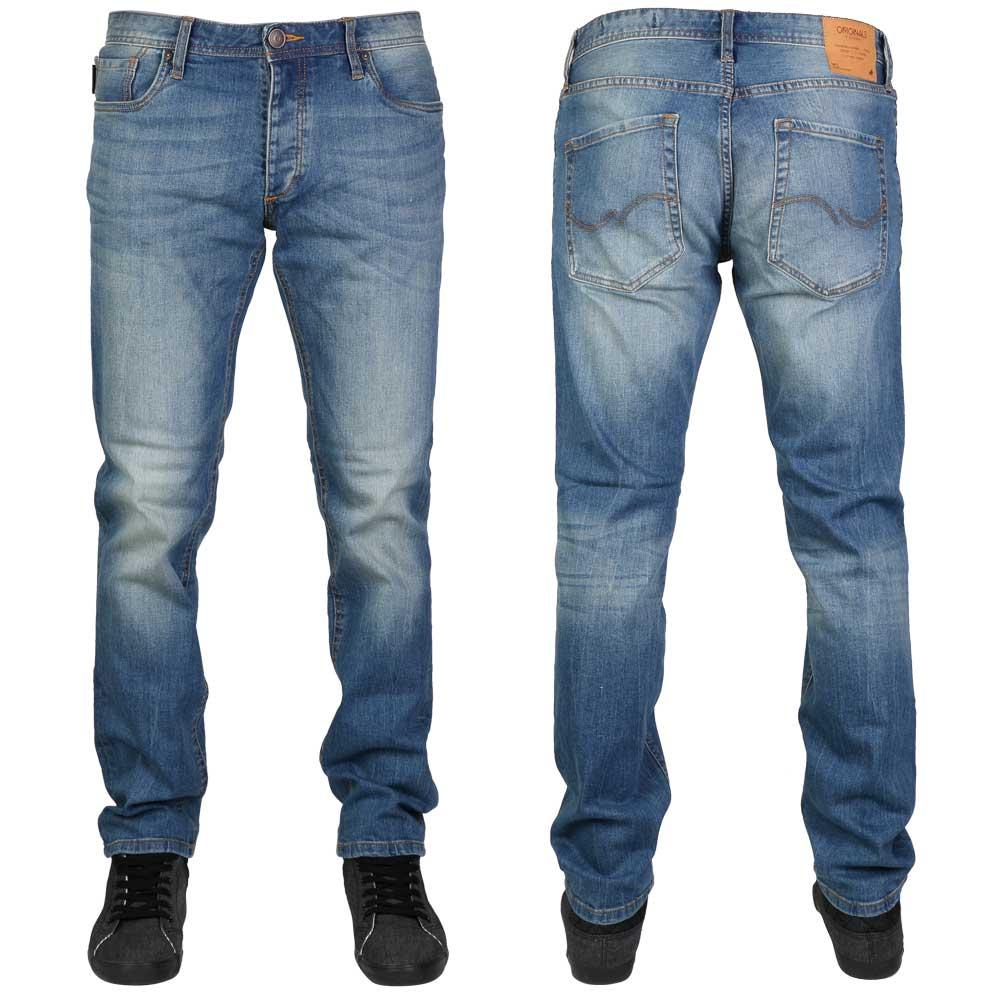 mens jack jones tim blue denim slim fit button fly jeans. Black Bedroom Furniture Sets. Home Design Ideas