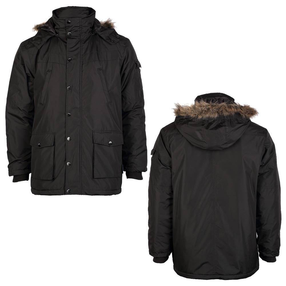 Black padded parka coat