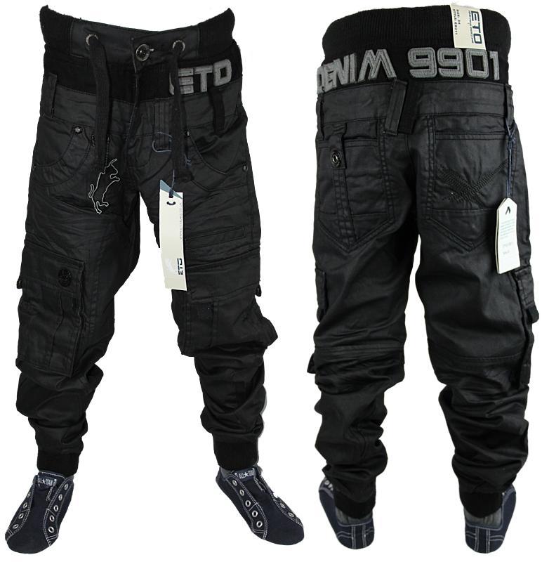jeans jungen schwarz karotte mit b ndchen jogger combat. Black Bedroom Furniture Sets. Home Design Ideas