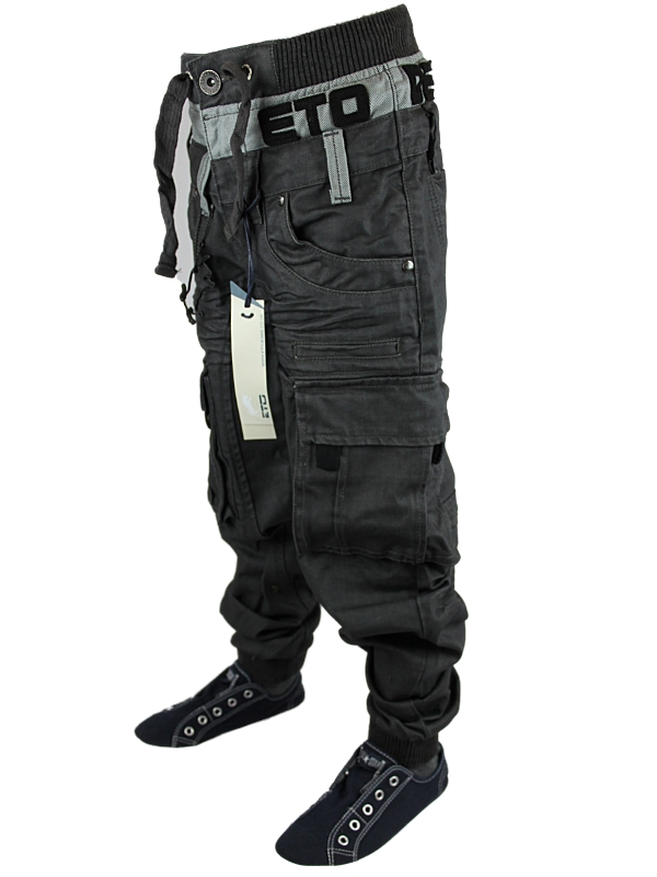 NEW-BOYS-GREY-ETO-EB209-CUFFED-DENIM-TAPERED-FIT-JOGGER-JEANS-ALL-WAIST-SIZES