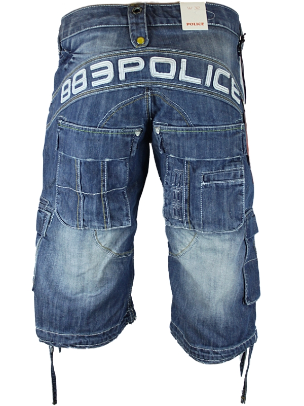 NEW-MENS-BLUE-POLICE-JEANS-883-AUSTIN-DESIGNER-REGULAR-FIT-SHORTS-ALL-WAIST-SIZE